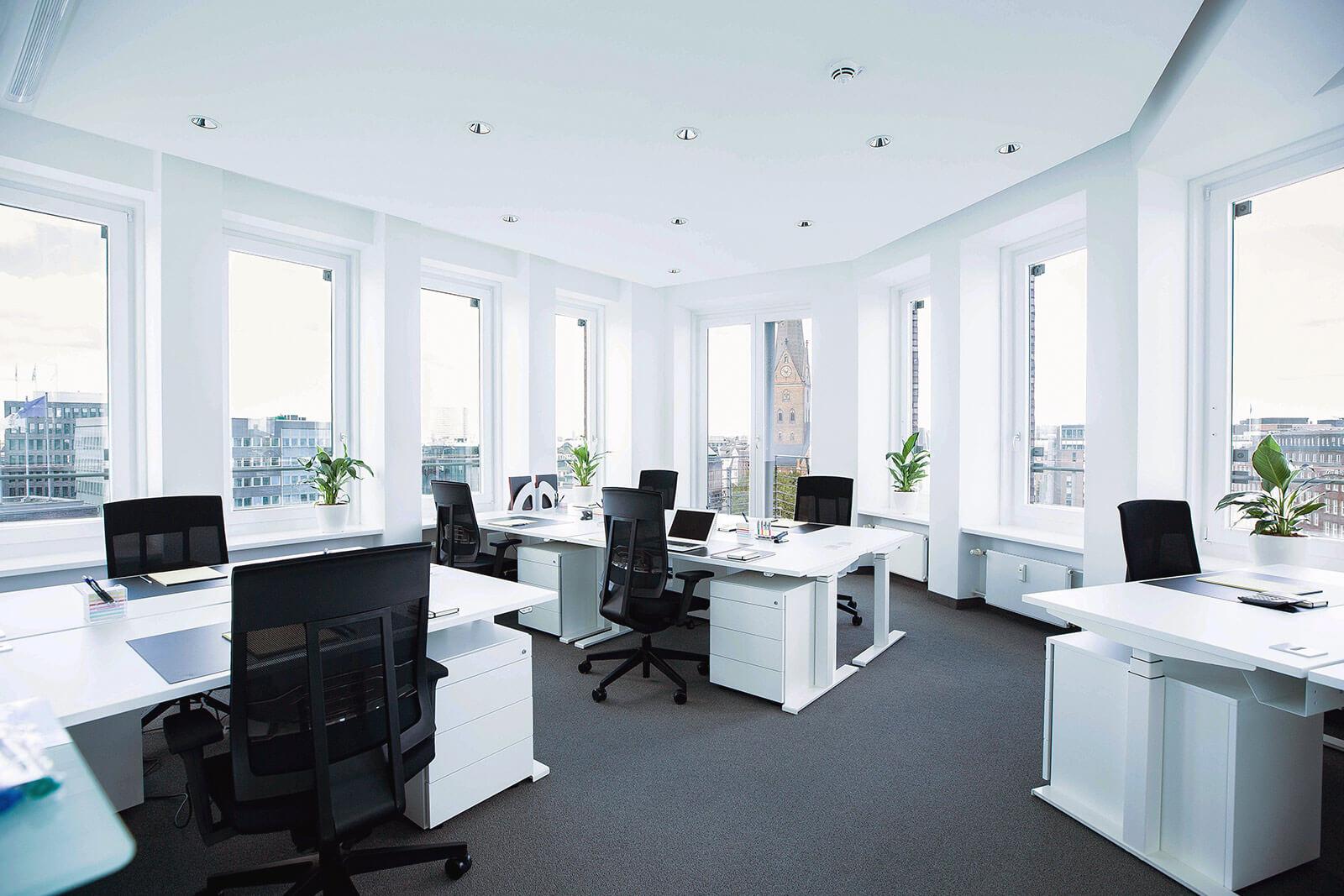 Hamburg Büro mit Panorama